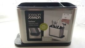 Joseph Joseph Surface Cutlery Drainer Stainless Steel - Brand New