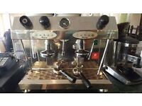 Fracino 2 group coffee espresso machine with coffee blender