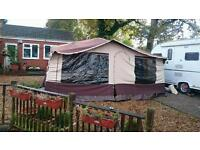 Trailer tent awning