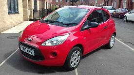 FORD KA 2013 hatchback red, 22000 miles 1.2 studio