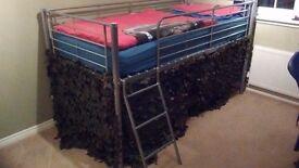 kids metal midi bed