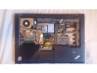 Lenovo Thinkpad R61 chassis with working modem, wifi, trackpad, fan broken mainboard FOR PARTS
