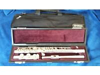 Solid Silver Open Hole Yamaha 471 Flute With Handmade Michael Allen Head