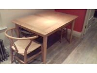 Stylish modern extending dining table as new