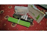 nintendo wii fit console game plus controls and yoga mat
