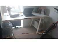 White IKEA wooden and glass desk - collection only