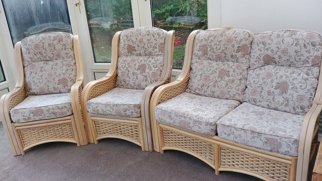 Conservatory Furniture One 2 Seater Sofa And Two Chairs