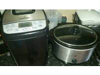 Breadmaker And A Slow Cooker bargain