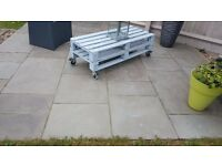 4 project packs (about 48 sq m) of silver smooth 'avant-garde' sandstone paving from Stonemarket