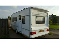 5 berth caravan Fleetwood Countryside 500/5 with all extras