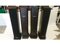 Kenwood set of 4 tall black speakers
