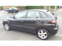 SEAT IBIZA SX 1.2 - 5 DOOR HATCHBACK (Black) CHEAP TO INSURE AND TAX
