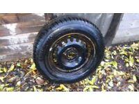 VAUXHALL CORSA 14 INCH STEEL WHEEL AND NEW 185/70/14 TYRE