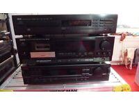 Yamaha CD Player/ Denon Cassette Recorder & Player/ Nakamichi Receiver (tuner/amplifier) set