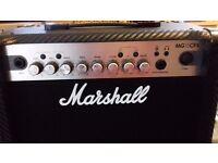 Marshall MG15CFX 15 Watt Guitar AMP Combo Carbon Fibre £60