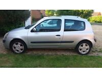 Renault Clio for Sale, with MOT til July, Relocation