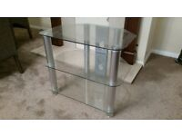 Tampered glass T.V Stand