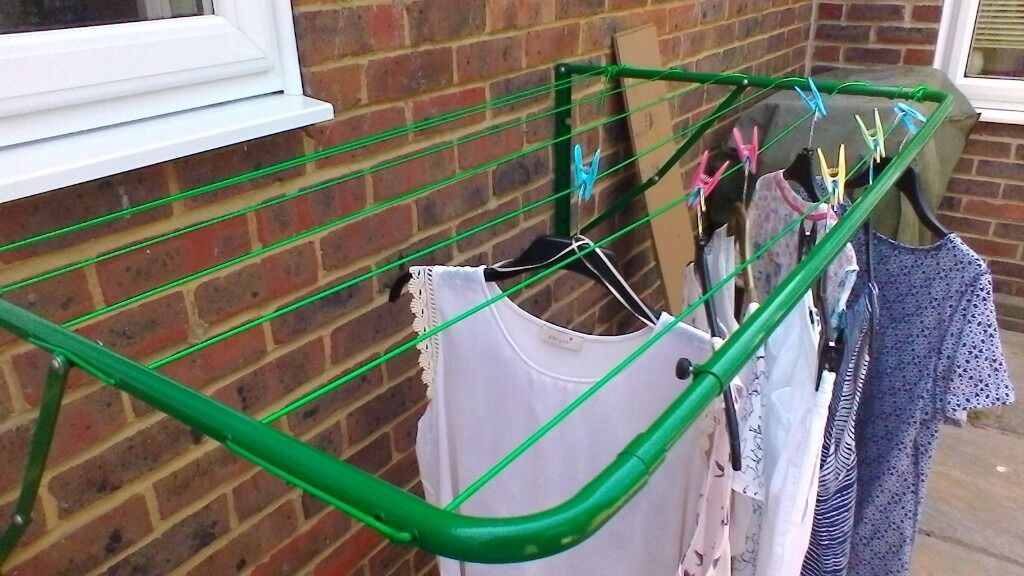 Minky wall or fence post outdoor airer.