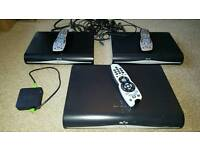 3 Sky +HD boxes plus 2 viewing cards