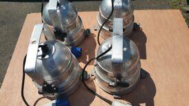 Stage lights - 4 Par 56 300w flood par cans, fair condition, all working
