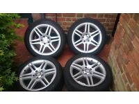 "Mercedes AMG 17"" alloys with good tyres"