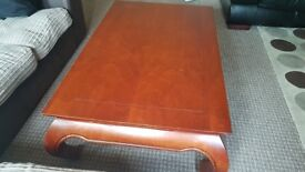 ORIENTAL CHINESE STYLE WOODEN COFFEE TABLE QUALITY PIECE OF FURNITURE