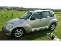 **SILVER CHRYSLER PT CRUISER 2001 TOURING EDITION FOR SPARES OR REPAIR**
