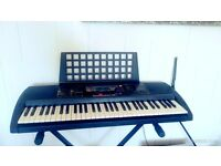Yamaha PSR-225 keyboard and stand.