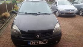 RENAULT CLIO 1.2 DYNAMIQUE FOR SALE £350 ONO (Needs new clutch fitting)