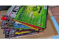 Stack of linux magazines