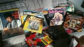 Over 70 vinyl record albums