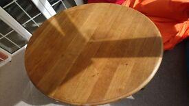 Solid oak drop leaf table antique (recently refurbished)