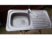Kitchen Sink With Mixer Taps Used But In Full Working Orders