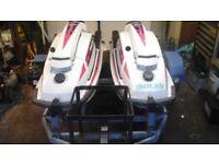 Kawasaki jet skis on twin trailer(jetski waverunner)