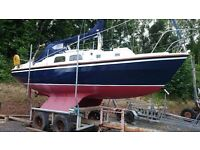 WESTERLY CENTAUR 26 BILGE KEEL SAILING CRUISER RE-ENGINED 2006 , TRAILER £8500