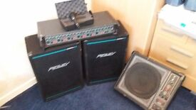 A K G / D3900 microphone and P A AND PEAVEY SPEAKERS