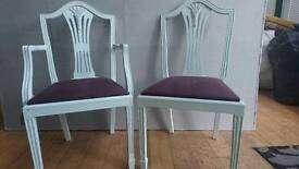 6 dining chairs upcycled