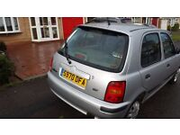 Silver nissan micra 1999 1.0