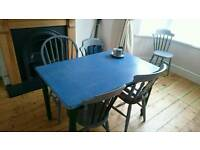 Upcycled dining table and 5 chairs £150 ONO happy to sell separately