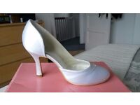 New white wedding / bridal shoes £35 ONO