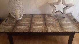 Large Mongolian style coffee table..