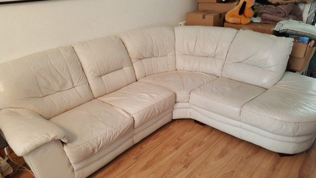 Fantastic Ice White Leather Corner Sofa 6 Years Old Has General Wear And Tear No Rips In Chaddesden Derbyshire Gumtree Cjindustries Chair Design For Home Cjindustriesco