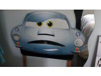 Disney cars wood headboard with light lightning mcqueen finn mcmissile cars