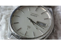 Seiko Vintage Stainless Steel Date Watch Very Rare 1970s Collectable