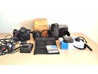 Nikon D610 DSLR kit, Low shutter count only 50mm 1.4 lens, 70-300mmf4-5.6, tripod, light meter etc