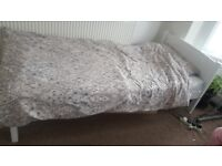 used single white wooden bed for sale!