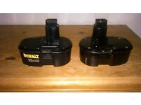 2 X 18V DEWALT BATTERY'S HOLD FULL CHARGE VERY GOOD BATTERY'S