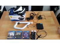 PlayStation Virtual Reality Bundle (inuding PSVR headset, 3 games, camera, gun & 2 Move controllers)