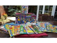 THE SIMPSONS! 7 COMIC BOOKS & 27 COMICS, ALLL IN GOOD CONDITION