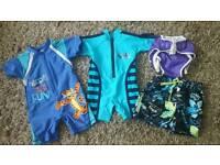 Boys swim clothes 6-12 months bundle